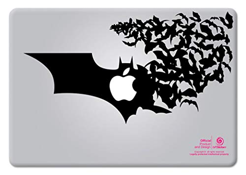 Artstickers. Pegatina para portatil de 15' y 17' Pulgadas. Diseño Batman Logo. Adhesivo para Apple MacBook Pro Air Mac Portátil. Color Negro. Regalo Spilart, Marca Registrada