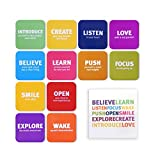 Tsoomi Magnets Inspirational Motivational Words: 12 Refrigerator Magnets in a Designed Package, Fun, Cute & Creative. Suitable for Any Magnetic Surface - Fridge, White Board, Lockers, Office and More