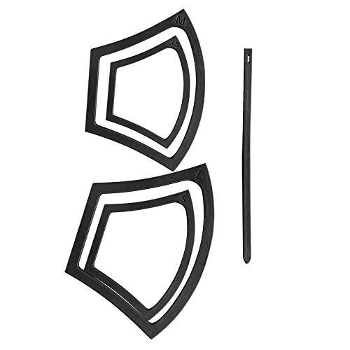 4 Stück MundSchutz Nähschablone für DIY Mund und Nasenschutz, Verschiedene Größen Wiederverwendbares Mund Schutz Muster für hausgemachtes Nähen Tool Zubehör
