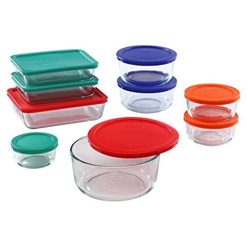 Pyrex Simply Store Meal Prep Glass Food Storage Containers 18Piece Set BPA Free Lids Oven Safe
