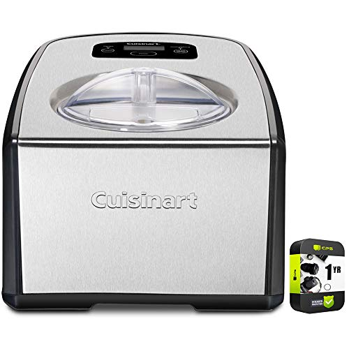 Cuisinart ICE-100 Compressor Ice Cream and Gelato Maker Bundle with 1 Year Extended Protection Plan