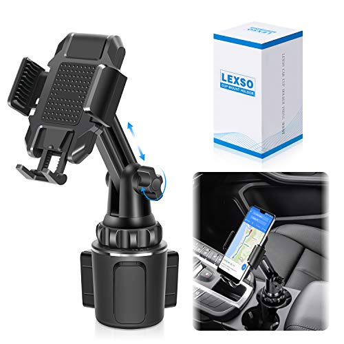 Car Cup Holder Phone Mount,Cup Holder Cradle Car Mount for Cell Phone Universal Adjustable iPhone 12 MAX/PRO/XS/X/11/8/7 Plus/Samsung Galaxy S20/S10/S9 Note Nexus Sony/HTC/Huawei/LG [Upgraded]