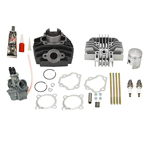 BETTERCLOUD Carburetor Cylinder Gasket Piston Rings Kit Set Compatible with 1983-2006 Yamaha PW 80 PW80