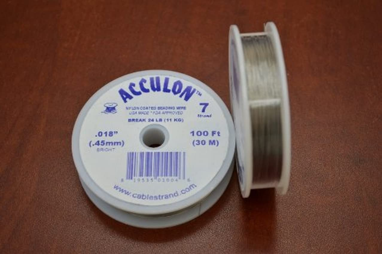 Bright .018 Acculon 7 Strands Beading Wire 100 Feet 1 Pc