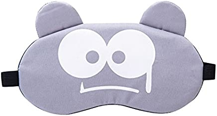Quner Sleep Mask Cute Frighten Emoticon Universal Eye Mask With Reusable Ice Pack for Hot Cold Therapy