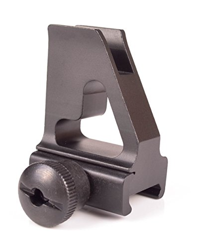 OZARK ARMAMENT Front Iron Sight - Gas Block Height - Best Military Grade Iron Sight with All Metal Construction - Easy Adjusting Elevation Post for Accuracy - Designed to Mount on Picatinny Rails