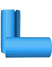 مقابض حديدية مضادة للانزلاق من السيليكون من ويكن لرفع الأثقال، وتدريب بناء الجسم، وزيادة قوة القبضة، محول القضيب/قبضة حديدية / الوسادة، بطول 9.8 سم و12.7 سم، زوج واحد