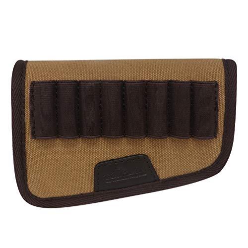 TOURBON Buttstock Rifle Ammo Carrier Cartridge Holder Canvas Stock Cover Cheek Rest Right Hand