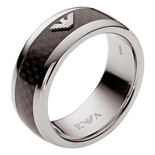 Emporio Armani AR-anillo de acero inoxidable EGS1602040