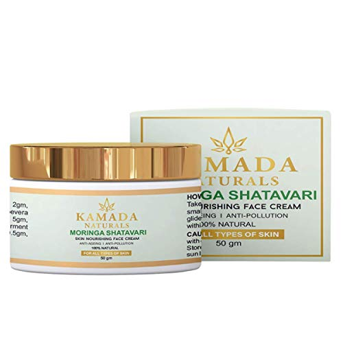 KAMADA Naturals Ayurvedic daily use day cream with anti blemish, anti ageing and skin tightening formula free from sulphates and parabens |(Pack of 1)