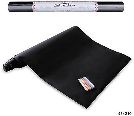 wei/ß Healifty Selbstklebende Tafelfolie Kreidetafel Folie DIY Aufkleber Tafelaufkleber zum beschriften mit Schwarz Kreidestifte 45x200cm
