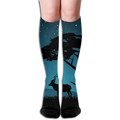 wu Kompression Enge Velty Bunte Knie High Travel Stillflug Falcon Heavy Spacex Socken für Unisex