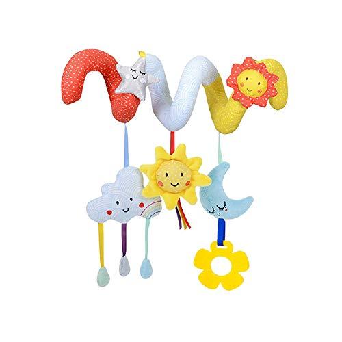 DDG EDMMS Giocattolo giocattolo per culla, da appendere, in peluche, a spirale, per bambini