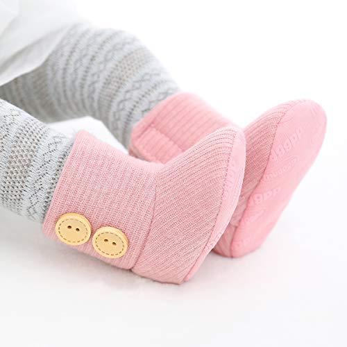 Ruiqas Neugeborene Baby Winter Schneeschuhe mit weicher rutschfester Sohle Mode Baby Kleinkind Kleinkind Mädchen Kleinkind gemütliche Schuhe Baumwolle bequeme Schuhe Winter Schneeschuhe