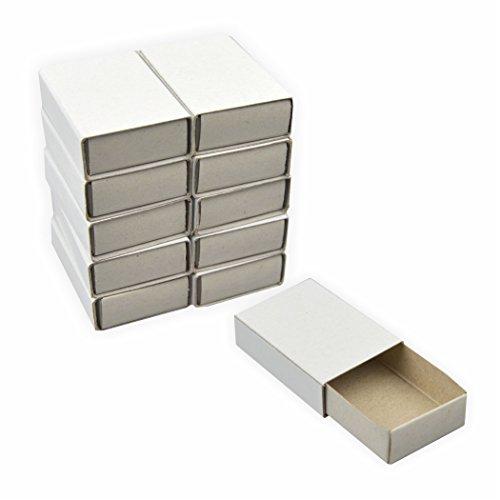 Streichholzschachteln, blanko 100 Stück ca. 5 x 3,5 x 1,5 cm weiss DIY perfekt zum basteln