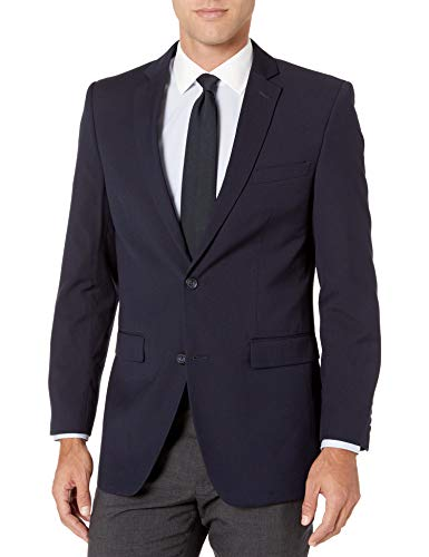 Perry Ellis Men's Slim Fit Blazer, Navy Hopsak, 36 Regular