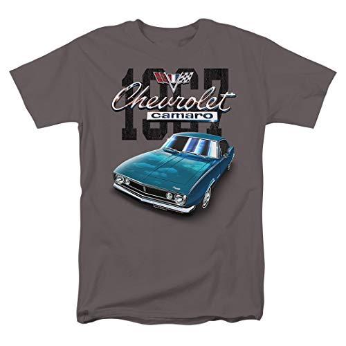 Chevy Camaro Tahoe Turqoise Classic Car 1967 T Shirt & Stickers (Medium)