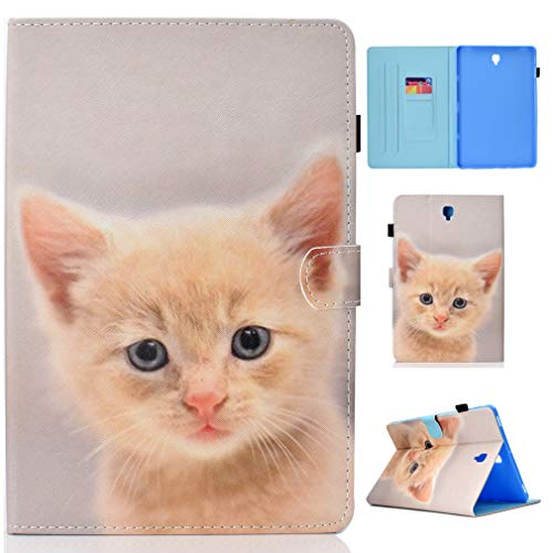 LMFULM Case for Samsung Galaxy Tab S4 / SM-T830 / T835 / T837 (10.5 Inch) PU Magnetic Leather Cover Yellow Cat Pattern Stent Function Holster Flip Cover for Galaxy Tab S4 Tablet PC