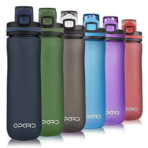 Opard Sportowa butelka na wodę 600 ml – butelka na wodę z tritanu, nie zawiera BPA, szczelna butelka sportowa z sitkiem – otwieranie jednym kliknięciem – dla dzieci, do szkoły, uprawiania sportu, na rower, fitness
