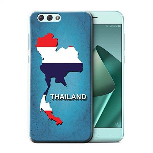 Stuff4 beschermhoes/cover/case/behuizing/kassa, bedrukt, motief landen vlag voor ASUS Zenfone 4 ZE554KL - Thailand/Thai