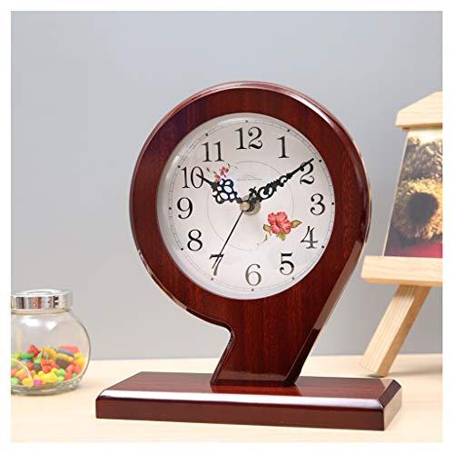 Reloj de Mesa Decorativo Creativo reloj de escritorio de 9 caracteres moderno mudo de madera chino reloj de escritorio lindo arte sala de estar decoración decoración pequeña mesa reloj Reloj de Escrit