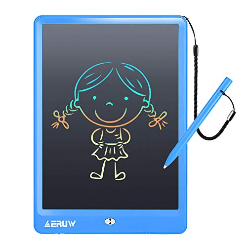 LCD Writing Tablet ERUW 10 Inch Electronic Graphics Drawing Pads, Drawing Board eWriter, Digital Handwriting Doodle Pad for Kids Home School Office Girl Boy Toys Christmas Birthday Gift Age 3+