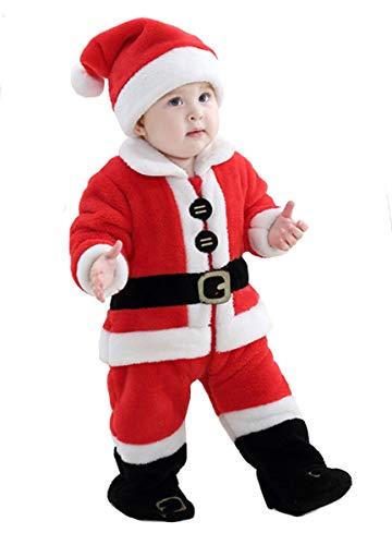 Doladola Unisex Baby Jungen Mädchen Weihnachten Weihnachtsmann Outwear (Weihnachtsmann, Größe 90/52 (Alter 24-30 Monate))
