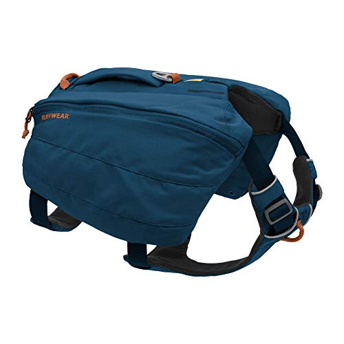 RUFFWEAR, Front Range Dog Day Pack, Backpack with Handle for Hikes & Day Trips, Blue Moon, Small