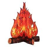 luminiu Chimenea decorativa de cartón en 3D, forma de corazón, fuego artificial, llamas falsas, papel para fiestas, decoración, antorcha de fuego de Navidad
