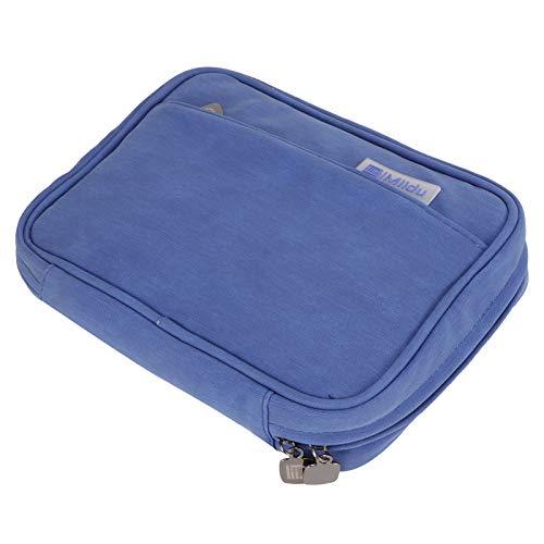 Bolsa de almacenamiento digital de viaje Cable de datos electrónico de alimentación móvil USB Flash Drive OrganizerBlue sola capa