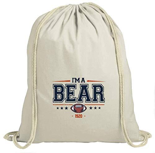 I'm a Bear American Football Chicago 1920 Super Bowl Turnbeutel Unisex Gymbag, Größe:37cm x 46 cm, Farbe:Natur (Gymbeutel)