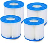 Poweka Cartucho de Filtro de Repuesto Compatible con Bestway Tipo VII e Intex Tipo D, Cartuchos de Repuesto para Bomba de Filtro de Piscina sobre el Suelo (4 Piezas)