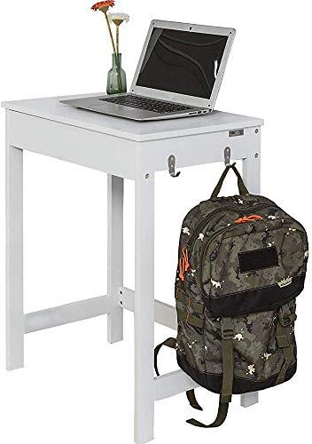 Con dos ganchos, cajones guías telescópicas, escritorio de la computadora, escritorio, mesa,White