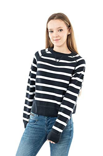 Superdry 61-Knit Sudadera, Eclipse Navy Stripe, M para Mujer