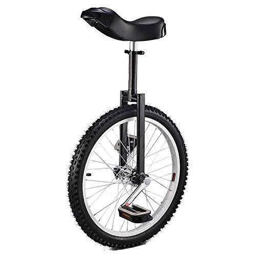 YUHT Monociclo, Equilibrio Ajustable Antideslizante Ciclismo Rueda de Ejercicio Monociclos Sillín ergonómico Contorneado, para Principiantes Adolescentes / 20 Pulgadas/Monociclo Negro