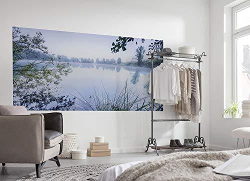 Komar Digitaldruck Vliestapete MORNING VIEW, 200 x 100 cm (Breite x Höhe), Tapete, Fototapete, Landschaft