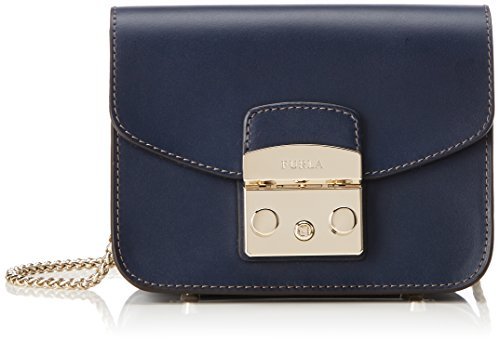 Furla Damen Metropolis Mini Crossbody Business Tasche, Blau (Blu D), 8x12x17 cm