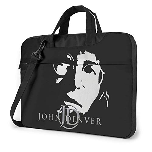 Hdadwy John-Denver Maletín para portátil con un Solo Hombro Maletín de Viaje Impermeable de Varios tamaños de 14 Pulgadas