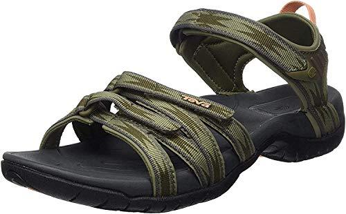 Teva Unisex W Tirra Sport Sandal, HALCON Burnt Olive, 8 US Women