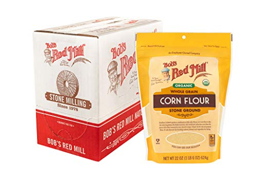 Bob's Red Mill Organic Corn Flour, 22 Oz (Pack Of 4), 88 Ounce (Pack of 1)