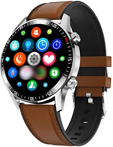 Smart Watch Bluetooth Call Full Round Watch Heart Rate Monitor Dial Answer Call Sport Fitness Men Smart Watch-E