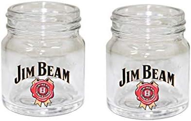 Jim Beam Bourbon Whiskey Mason Jar Shot Glass Set of 2 product image