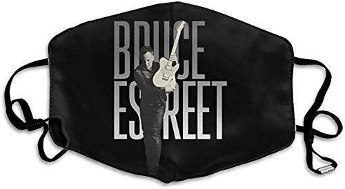 Bruce-Springsteen E Street - Bandana antipolvo para hombre (ajustable, con cara de algodón)