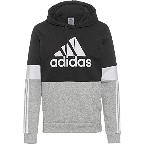 adidas Herren M CB HD Kapuzenpullover, Schwarz/Weiß, XL