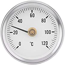 New Design Ts W50a Thermometer Water Pipe Bimetal Stainless Steel Surface Clip On, Hot Water Line - Industrial Thermometer, Fridge Freezer, Brat Grill, Thermostat Cover In Collectibles