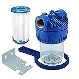FILTROTECH Wasserfilter 5 Zoll Anschluss 1' IG Hauswasserwerk Schmutzfilter 5000l/h