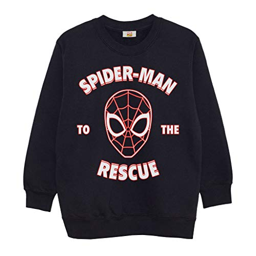 Marvel Comics Spider-Man to The Rescue Boys Crewneck Sweatshirt Black 3-4...