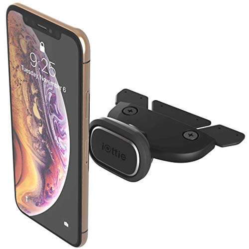 iOttie iTap 2 Magnetic CD Slot Car Mount Holder, Cradle for IPhone Xs Max R 8 Plus 7 Samsung Galaxy S10 E S9 S8 Plus Edge Note 9 & Other Smartphones , Black