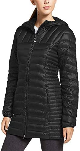 Eddie Bauer Women s Astoria Hooded Down Parka Black Regular L product image