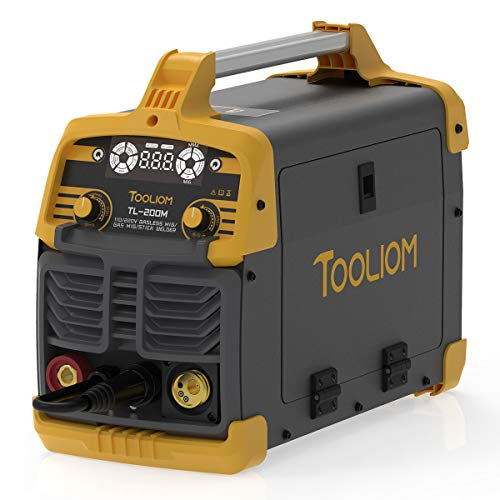TOOLIOM 200A MIG Welder 3 in 1 Flux MIG / Solid Wire / Lift TIG / Stick Welder 110 / 220V Dual Voltage Welding Machine